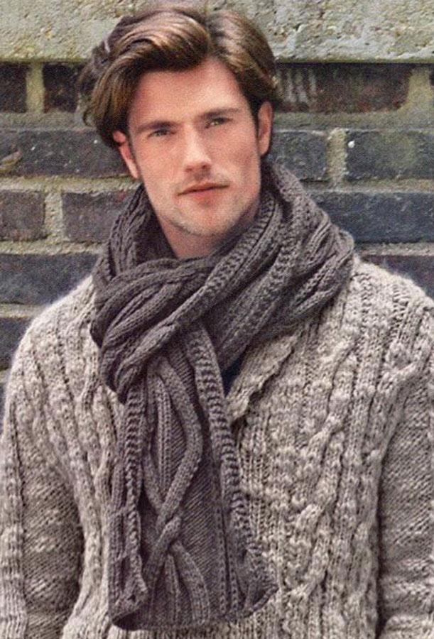 Мужской шарф с ирландским