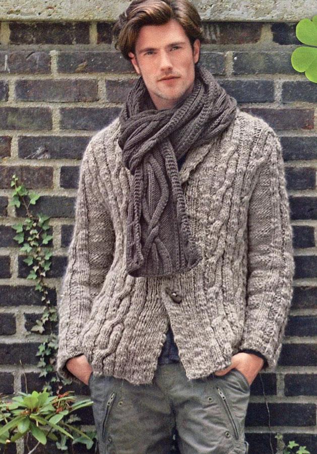 Вязание для мужчин спицами.