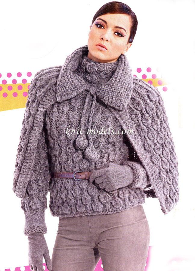 Вязание спицами для женщин. Комплект