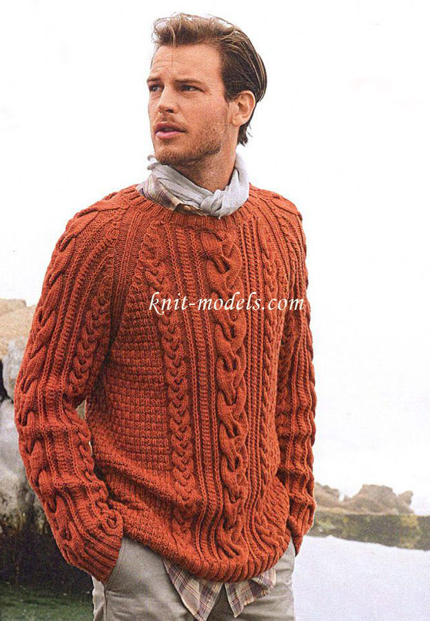 Схема вязания мужского свитера реглан фото 795