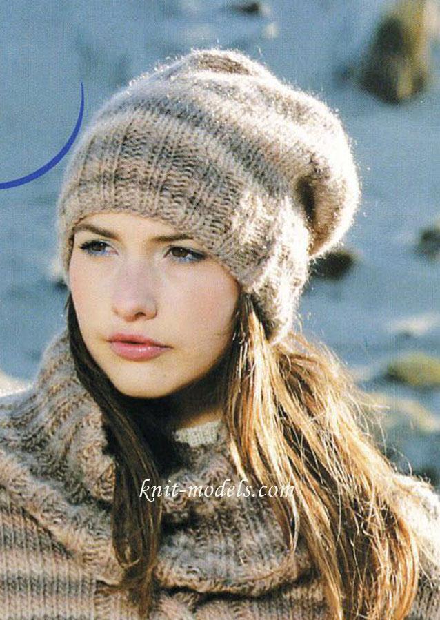 Молодежная шапочка-бини