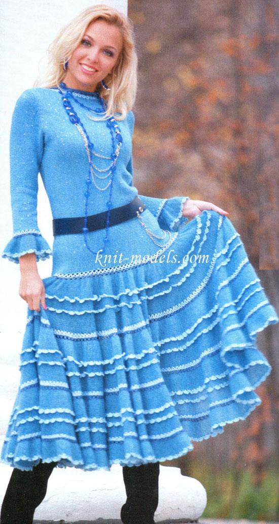 Жакет и юбка с оборками