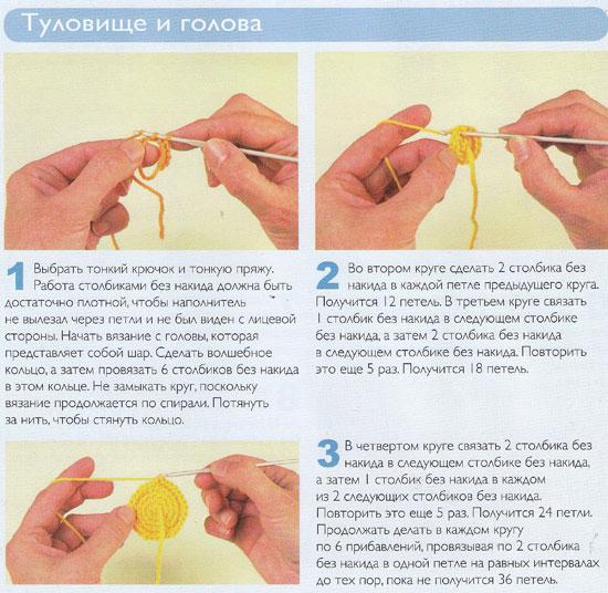Амигуруми с пошаговой инструкцией