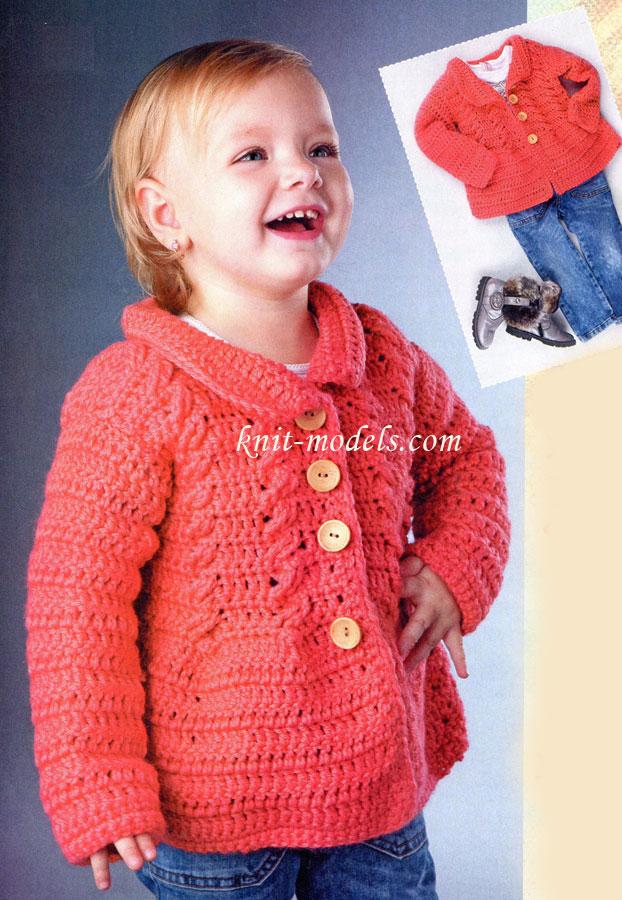 Вязание для девочек. Жакет