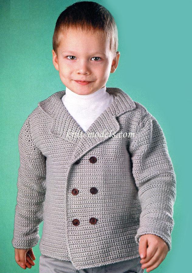 Двубортный пиджак для мальчика