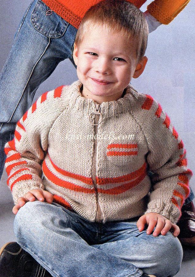 Вязание жакет для мальчика 5 лет 662