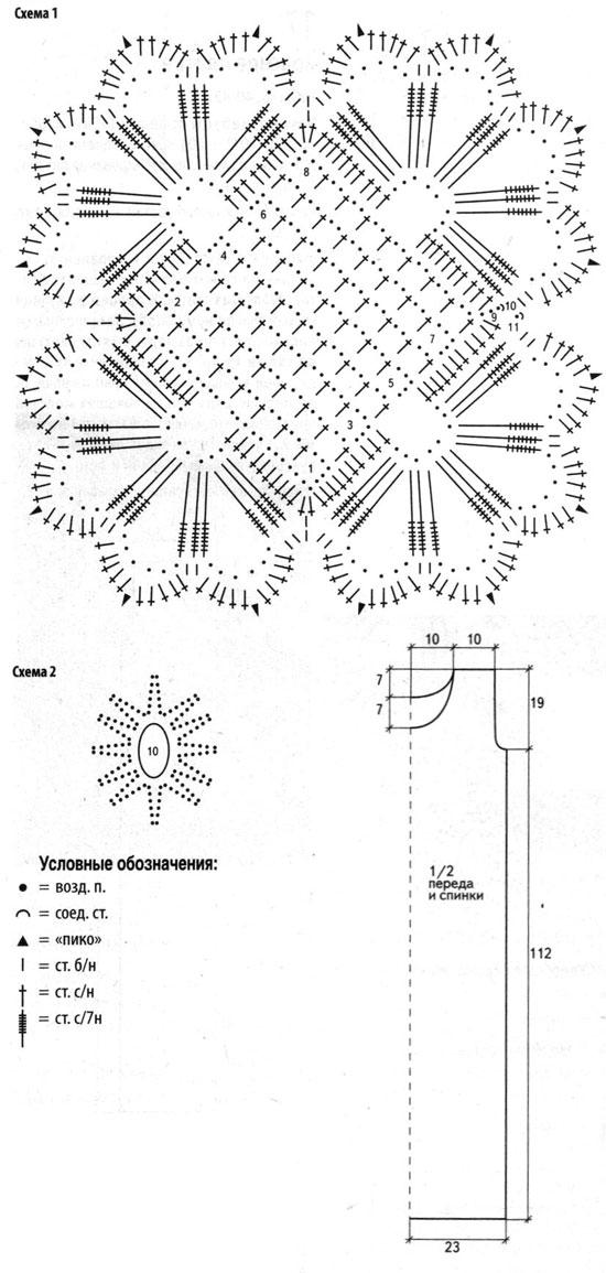 Осинка схемы вязания 98