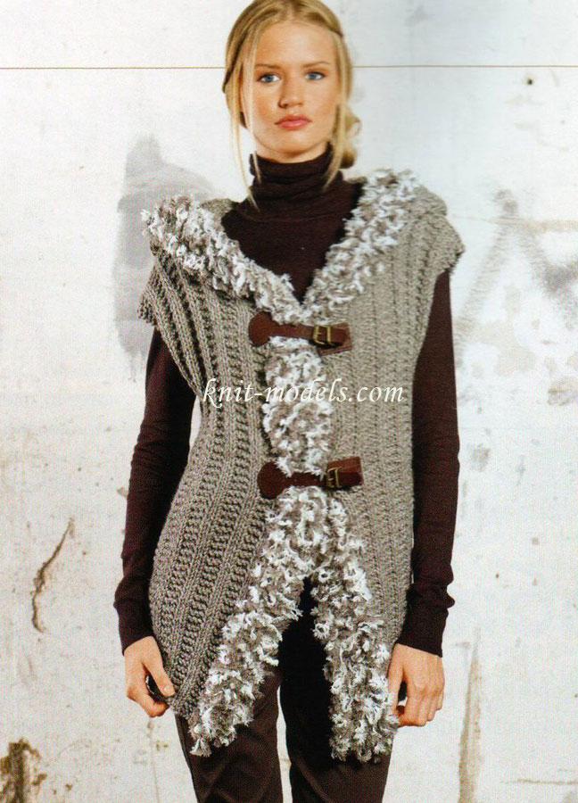 жилет вязание - Самое
