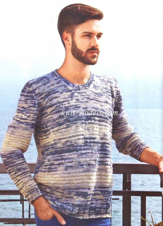Вязание для мужчин пуловер