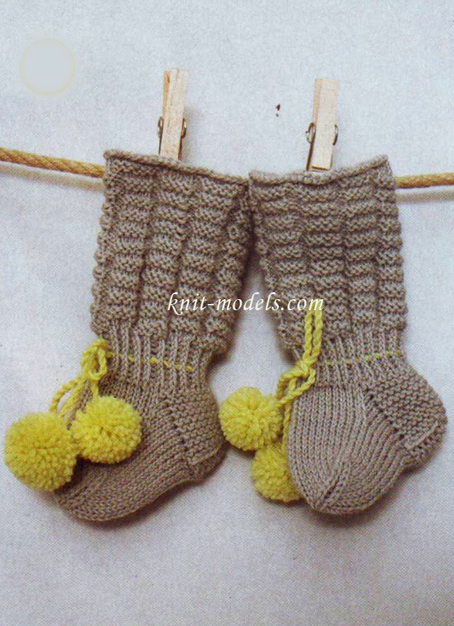Вязаные носки для младенцев