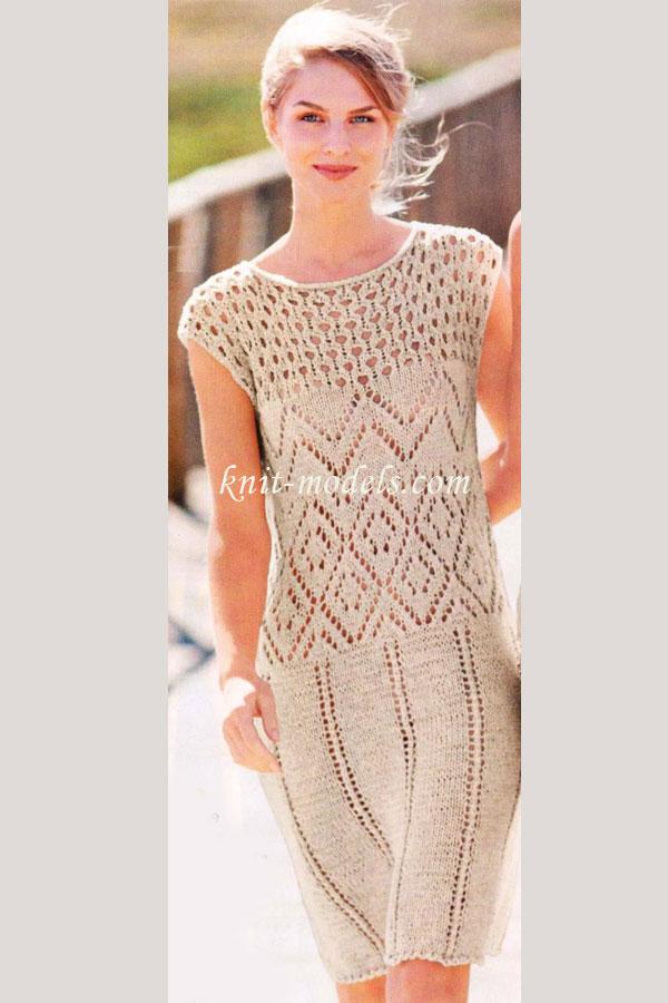 Летнее платье с ажурными