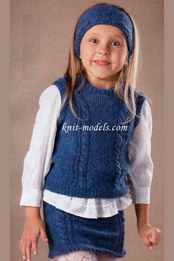 Вязание спицами для девочек
