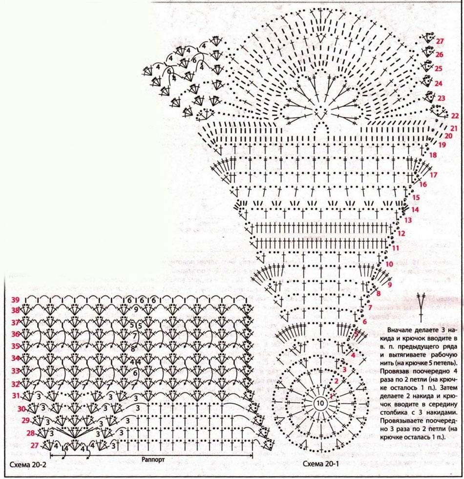 Зонт крючок вязание схема 950