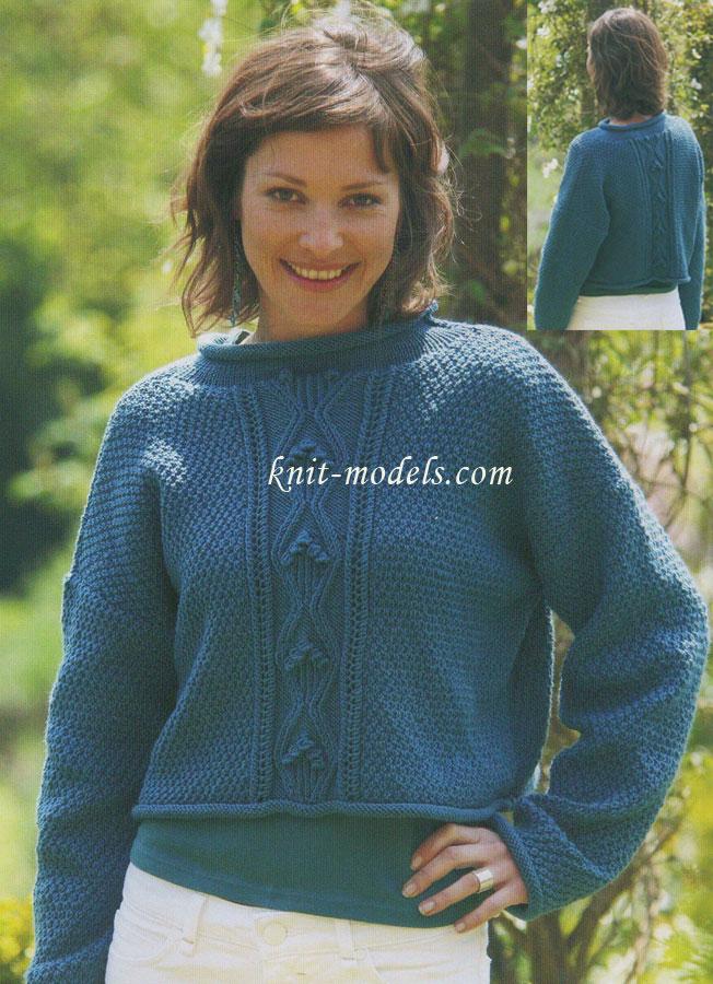 Ажурный Длинный Пуловер Доставка