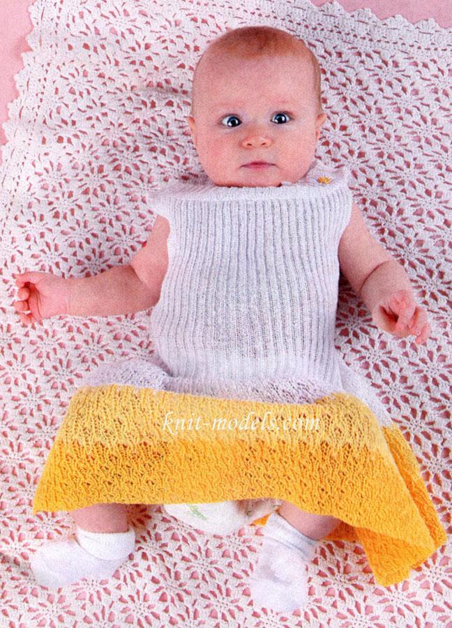 Ажурное детское одеяло
