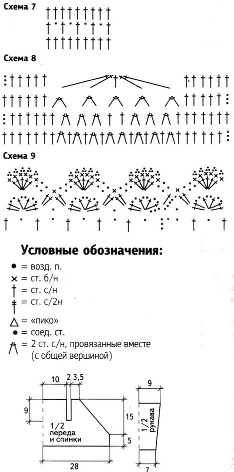 Пинетки крючком от 1 года со схемами