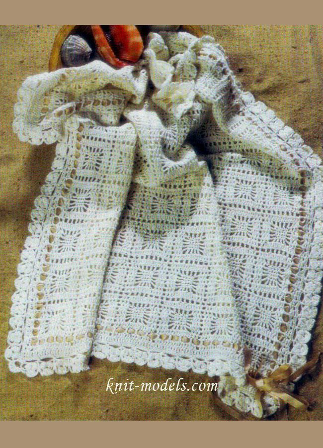 Детское одеяло связанное