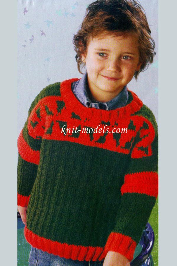 Детский свитер с жаккардом