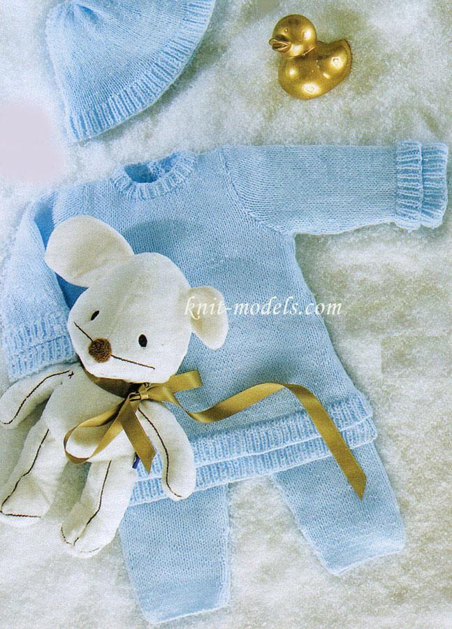 Вязание спицами для малышей. Костюм
