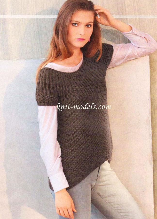 Пуловер С Асимметричным Краем Доставка