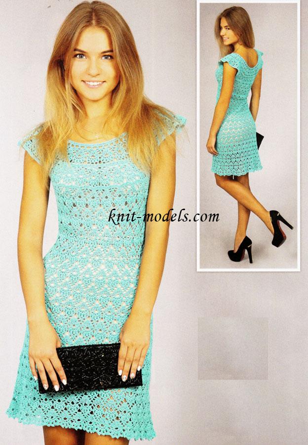 Платье лилия крючком схема
