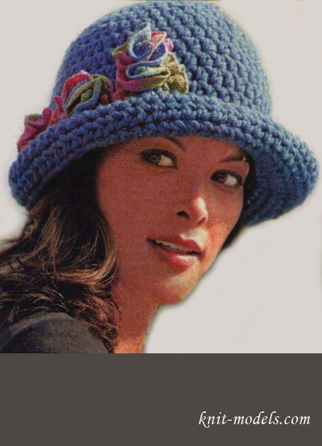 Вязаная крючком шляпка