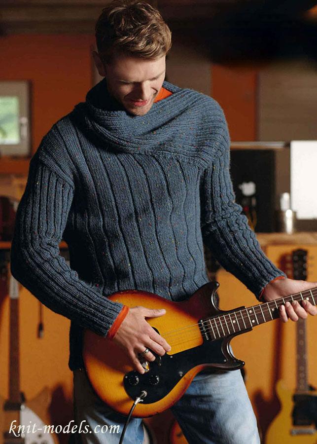 Вязаные мужские пуловеры