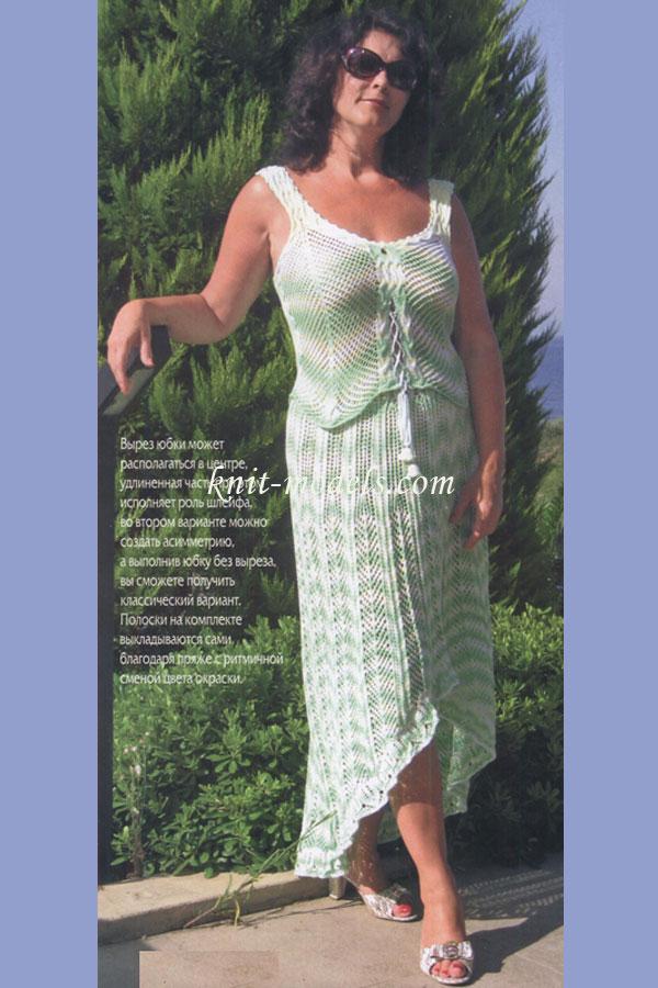 Вязание крючком юбки для полных женщин 44