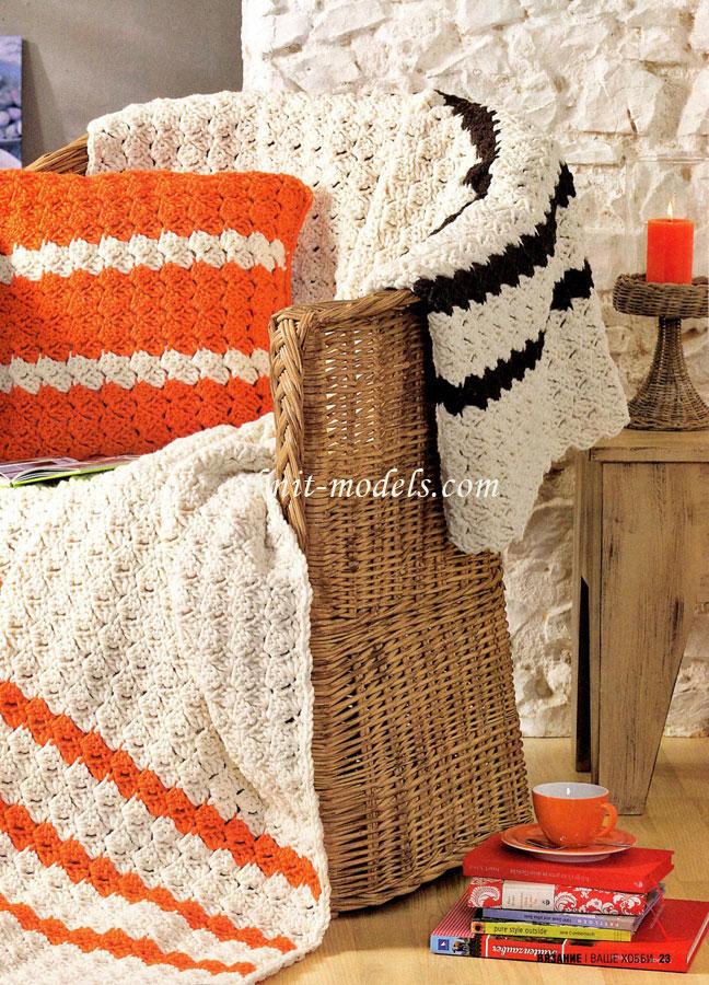 Вязание крючок пледы и подушки