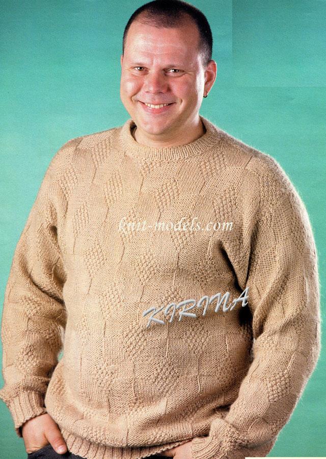 Вязание мужского свитера 56 размера 572