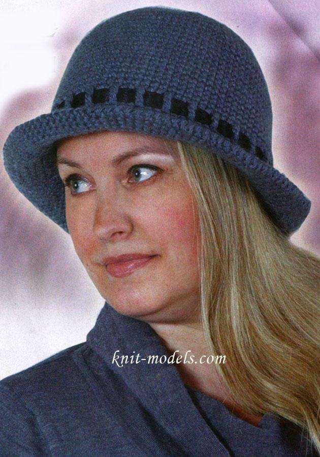 Вязание шляпы крючком описание