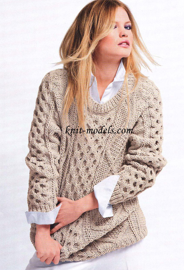 Узорчатый свитер с рукавами реглан