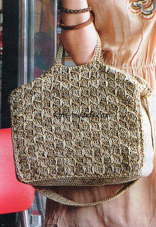Вязаные сумки со схемами вязания крючком.  70 схем сумок с.