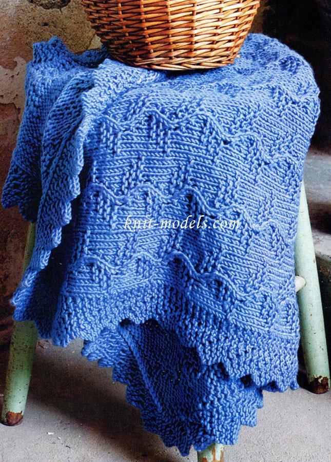 Детское одеяло связанное спицами