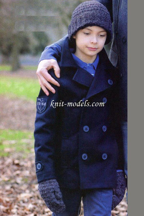 Варежки и шапка для мальчика
