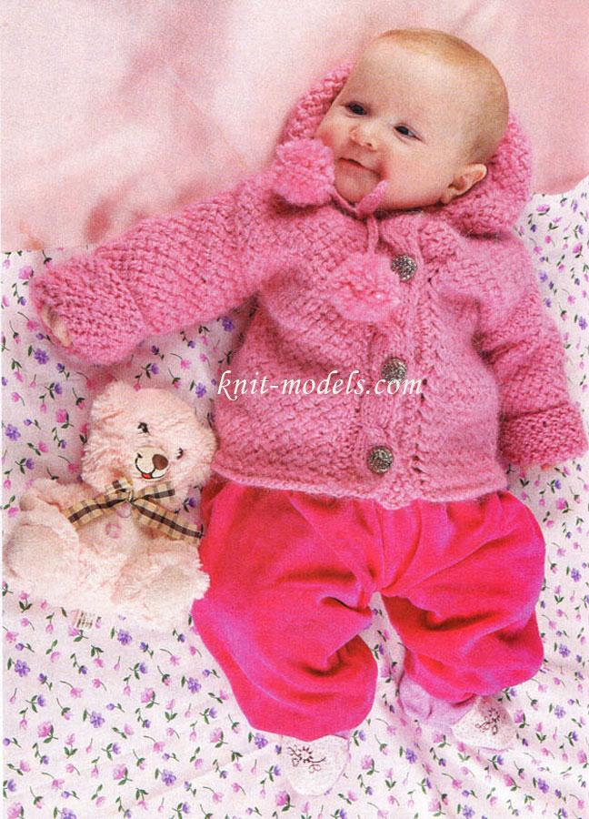 Вязание для малышей. Вязание спицами. Куртка