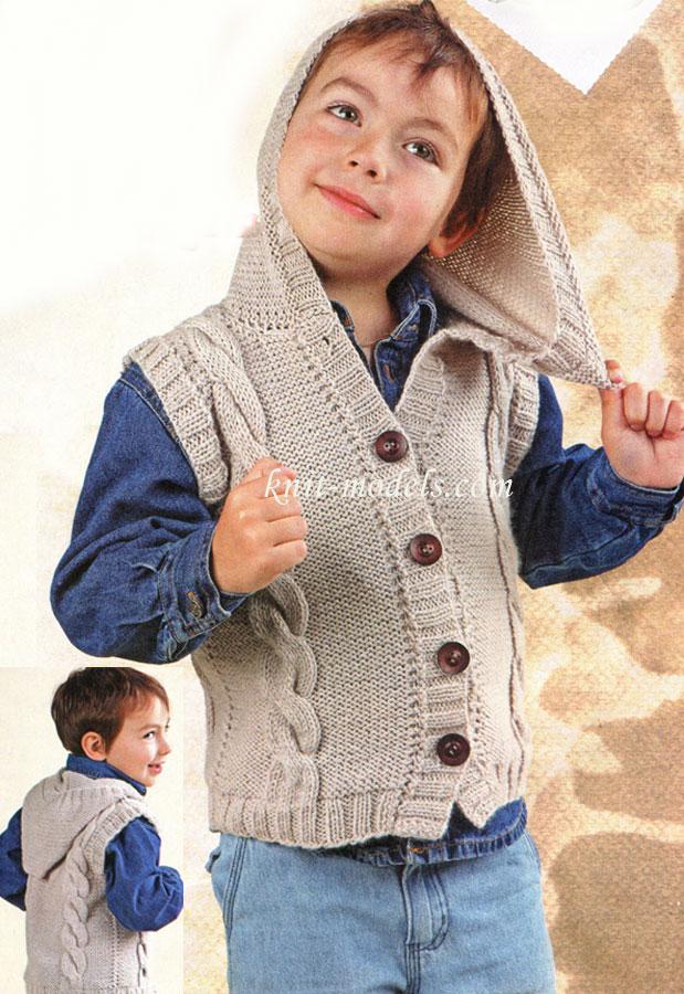 Вязание спицами для малышей жилет