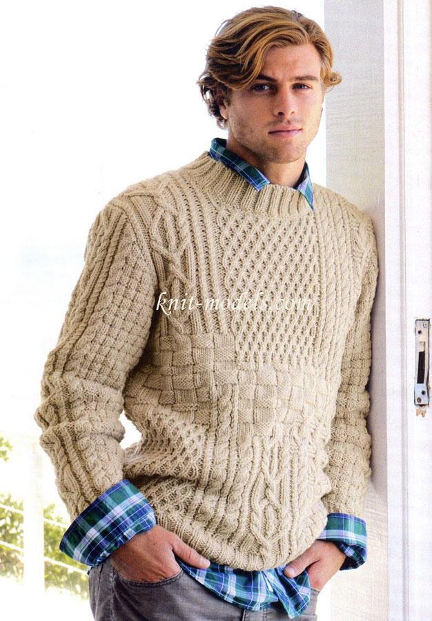 Джемпер крупной вязки мужской