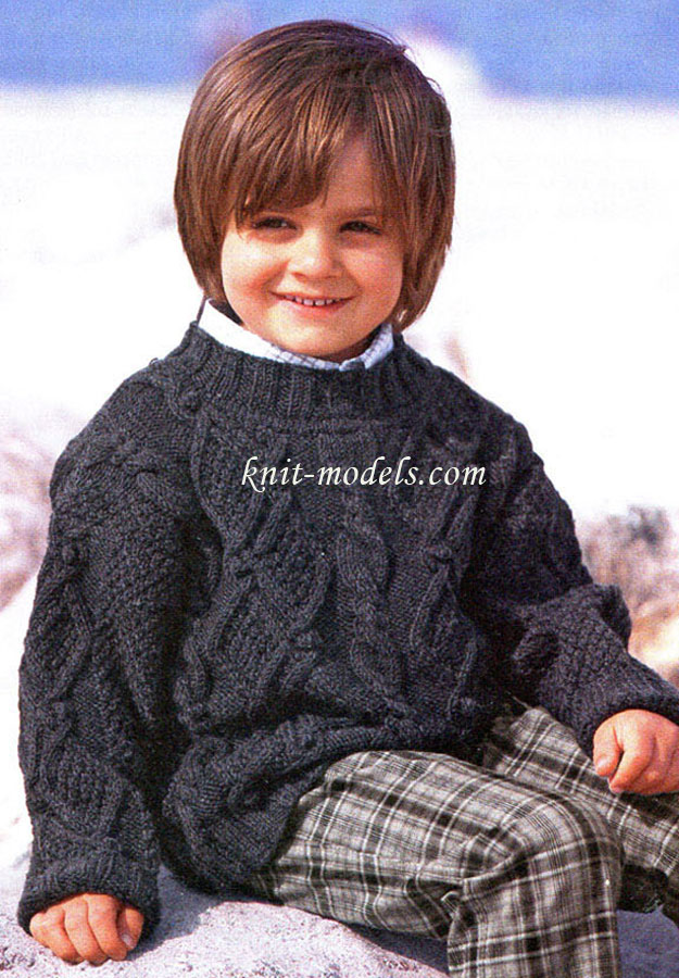 Вязание для детей. Вязание спицами. Свитер