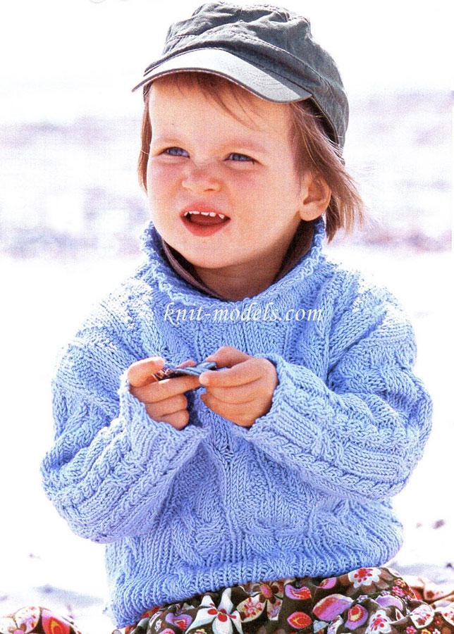 Вязание для детей спицами. Пуловер