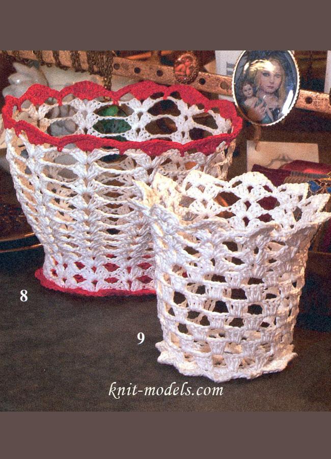 Вазочка и стаканчик (вязание