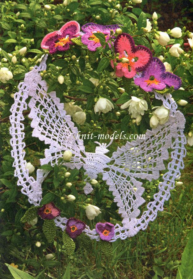 Панно вязаное - Бабочка