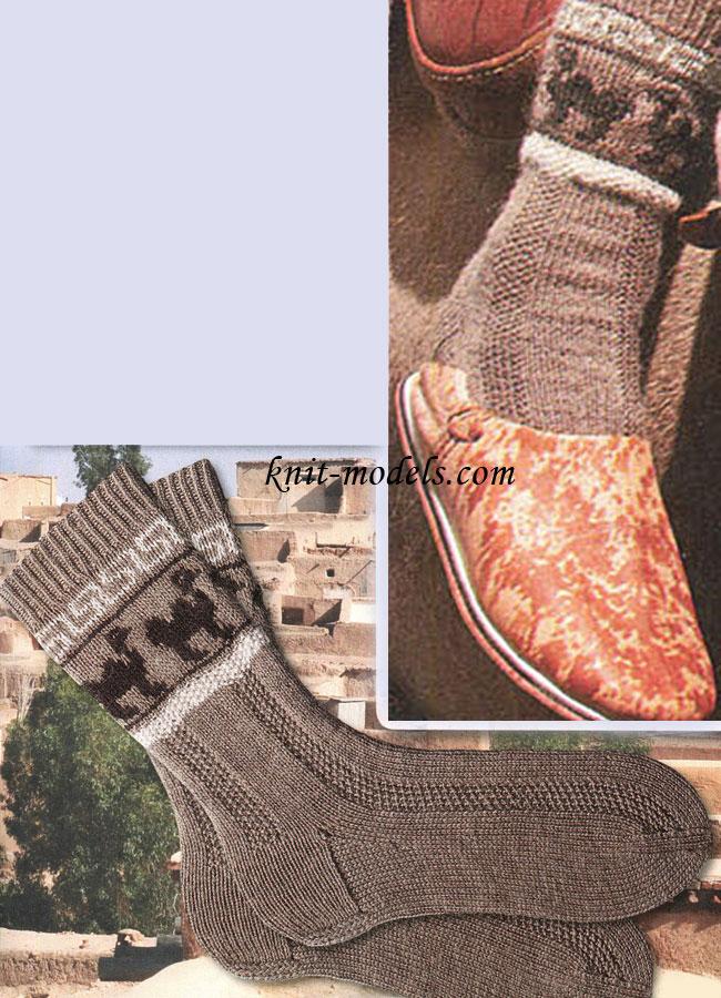 Вязание крючком носков мужских 2
