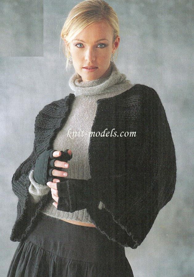 Джемпер с широкими рукавами