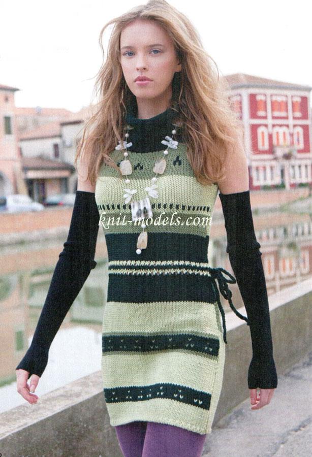 Жаккардовое вязание сарафаны