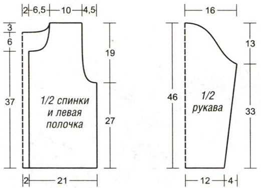 Детская куртка. 500 г пряжи секционного крашения (100% мериносовой шерсти, 70 м/100 г