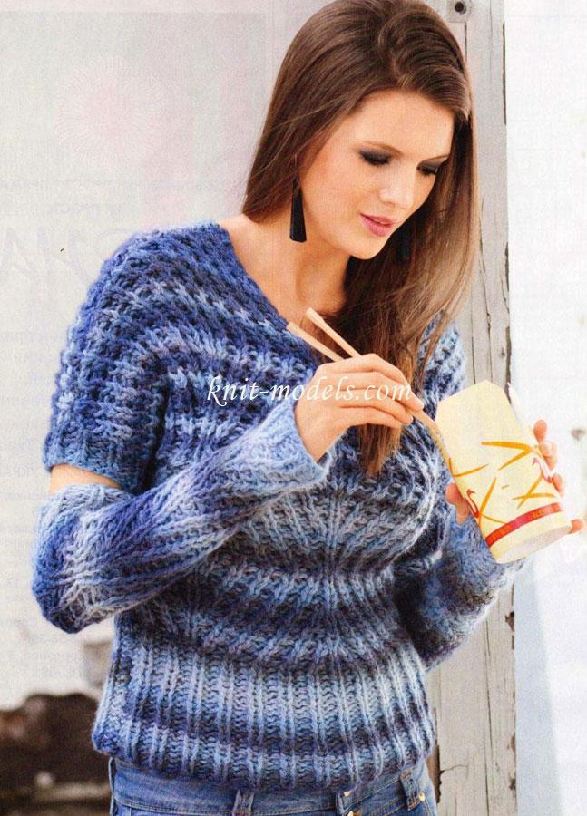 Пуловер и нарукавники