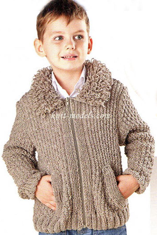 Курточка для мальчика спицами 87