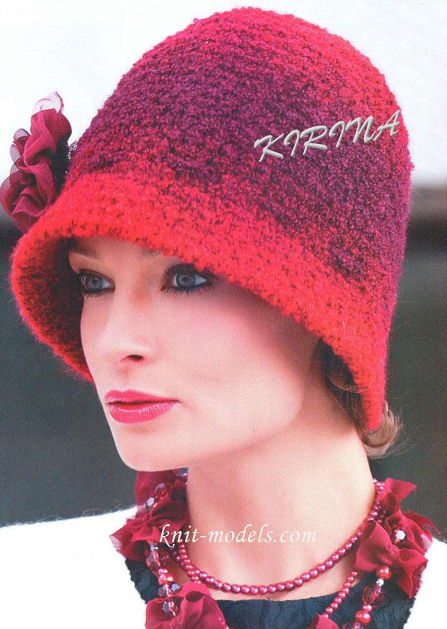 Вязание крючком дамские шляпки модели и схемы фото 264-466