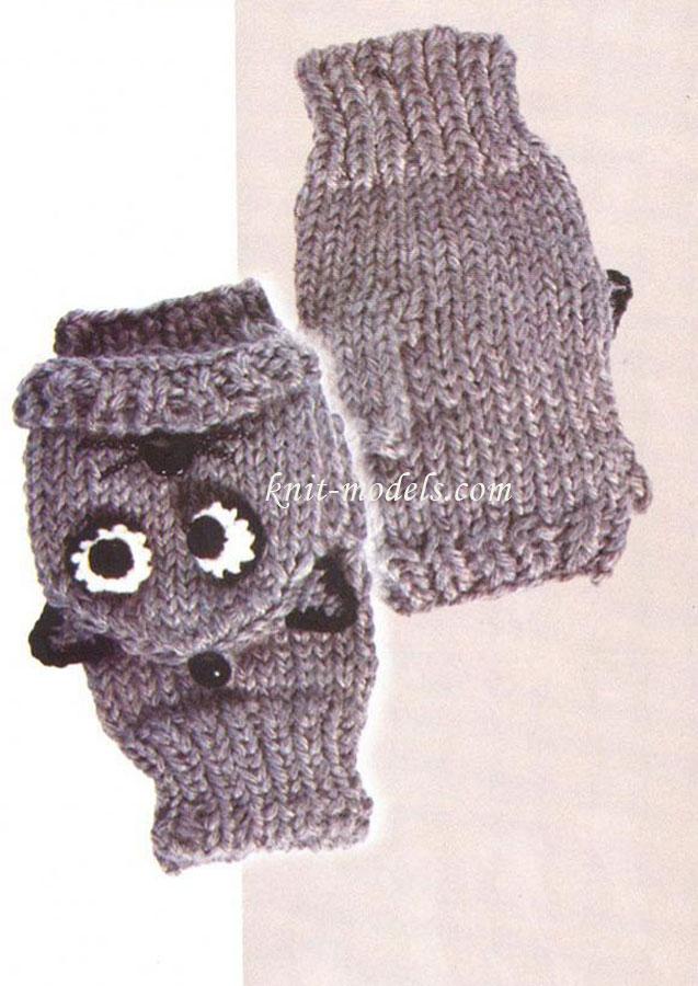 Варежки-митенки (вязание